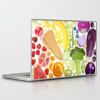 fitzgerald Laptop & iPad Skins featuring Eat Well by Emma Fitzgerald