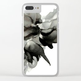 Black Bloom Clear iPhone Case