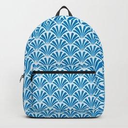 Blue Wave Art Deco Design Backpack