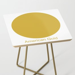 American Gold Side Table
