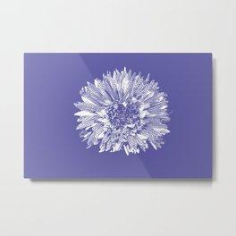 Stamped Wildflower in Lavender Metal Print