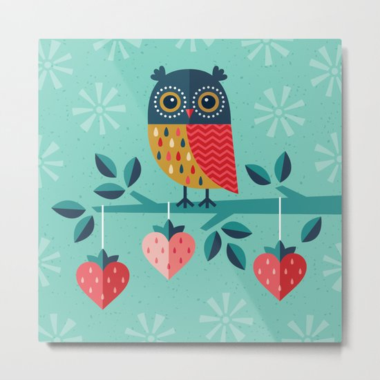 OWL ALWAYS LOVE YOU Metal Print