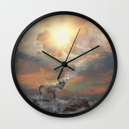 Climb Mountains Not So the World Can See Wall Clock