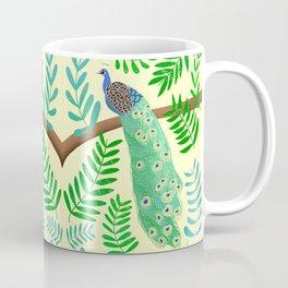 Peacock Paradise in Lemon  Coffee Mug