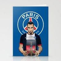 zlatan Stationery Cards featuring Football Stars: Zlatan Ibrahimovic by Akyanyme