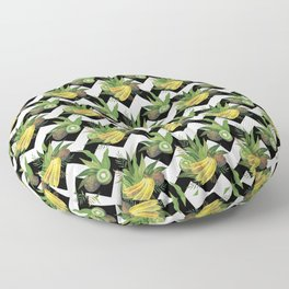 Bananas and Kiwis - Zigzag Floor Pillow