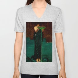 "John William Waterhouse ""Circe Invidiosa"" Unisex V-Neck"