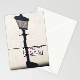 Portobello Road Sign, London, England Stationery Cards