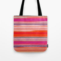stripes Tote Bags featuring stripes by spinL