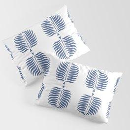 TROPICAL PALMS . WHITE + BLUE Pillow Sham