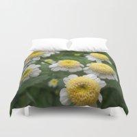 daisies Duvet Covers featuring Daisies by Vitta
