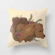 Bear Mom II Throw Pillow