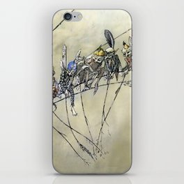 """""""Bother the Gnat Audience"""" by A Duncan Carse iPhone Skin"""