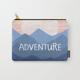 Adventure Sunset Vector Landscape Carry-All Pouch