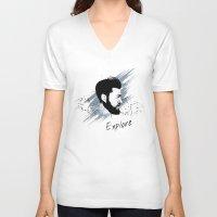 explore V-neck T-shirts featuring Explore by Polina Kovaleva