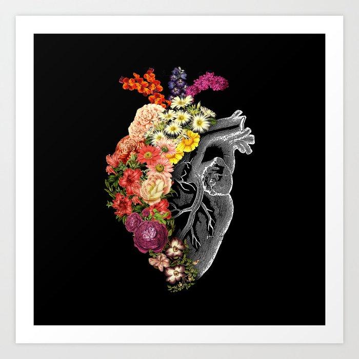 Flower Heart Spring Kunstdrucke