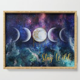 Celestial Ocean Moon Phases | Stay Wild Serving Tray