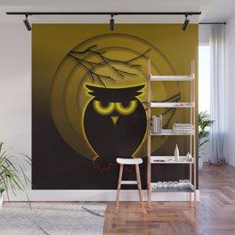 Halloween Owl Wall Mural