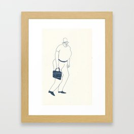 man with briefcase Framed Art Print