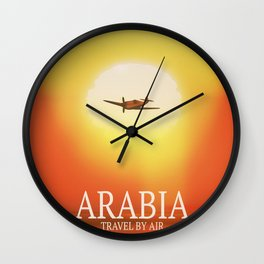 "Arabia ""Travel By Air"" Wall Clock"