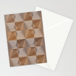 Shiny golden embossed metal pattern Stationery Cards