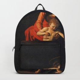 Michelangelo Merisi da Caravaggio - Madonna and Child with St. Anne Backpack