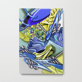 geometric colored abstrackt Metal Print