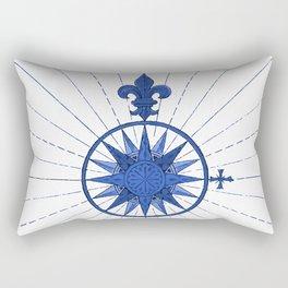 Nautical French Blue Compass Rose Rectangular Pillow