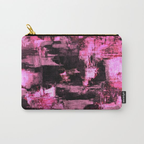 Harsh Pink - Neon Pink Abstract Carry-All Pouch
