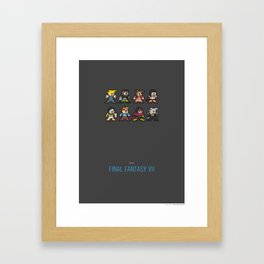 Mega Final Fantasy VII Framed Art Print