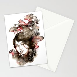 Metamorphosis of a fading memory Stationery Cards
