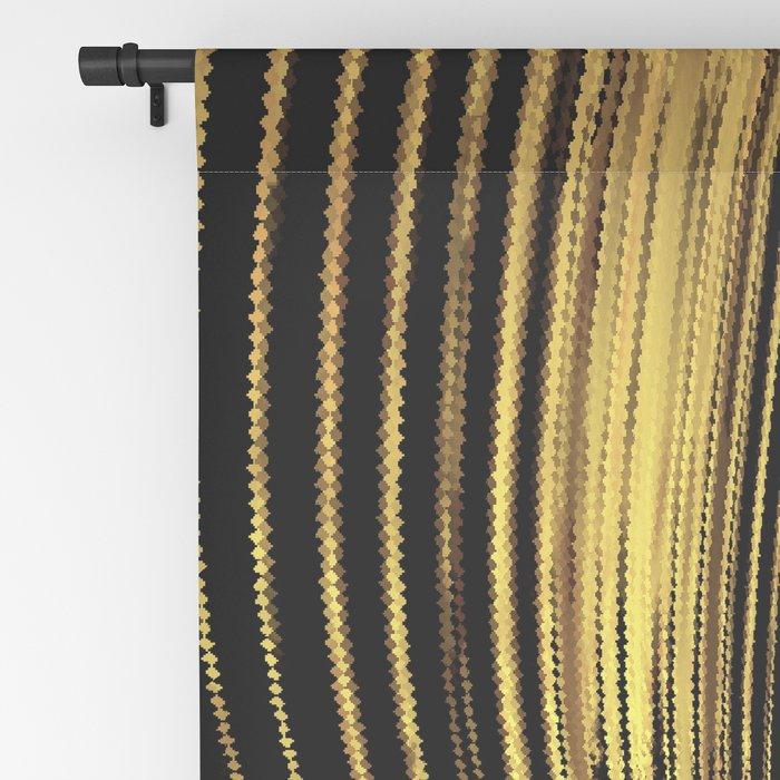 Golden Streamers Blackout Curtain