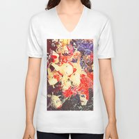 koi fish V-neck T-shirts featuring Koi Fish by Georgiart