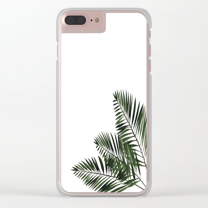 Tropical Exotic Palm Leaves I Clear iPhone Case
