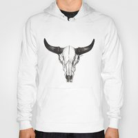 bull Hoodies featuring Bull by Michaela Ramstedt
