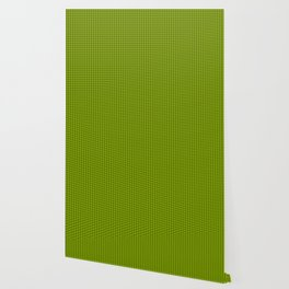 Slime Green and Black Hell Hounds Tooth Check Wallpaper