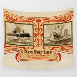 Red Star Line Antwerp New York ocean liners Wall Tapestry