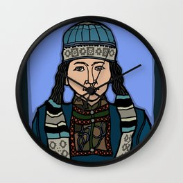 Mongolian Girl Wall Clock
