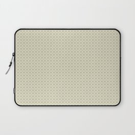 Earthy Green on Pale Beige Parable to 2020 Color of the Year Back to Nature Polka Dot Grid Pattern Laptop Sleeve