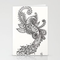 paisley Stationery Cards featuring Paisley by Bethany Pease
