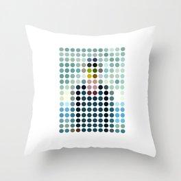 Rene Magritte Remixed Throw Pillow