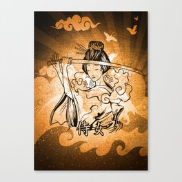 Samurai Woman Art Canvas Print