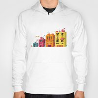 buildings Hoodies featuring Buildings by Luis Pinto