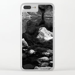 Reflections on Shallow Water Clear iPhone Case