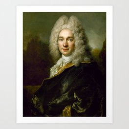 Nicolas de Largillire - Portrait of Pierre Cadeau de Mongazon (1687–1763) Art Print