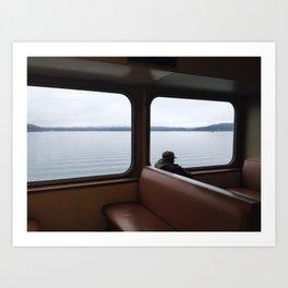 Orcas Island Ferry Commuter  Art Print