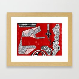 Red Abstract Composition Framed Art Print