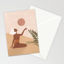 Strawberry Full Moon - Manifest your Desires and Wishes Stationery Cards