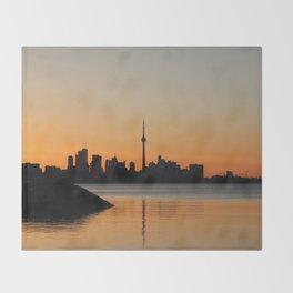 Toronto Sunrise Throw Blanket