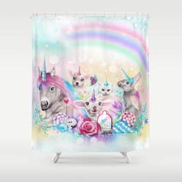 We All Just Want to be Unicorns Shower Curtain